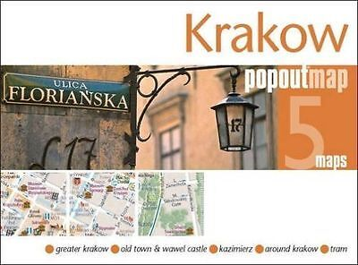 KRAKOW POPOUT MAP - NEW - CURRENT EDITION - POCKET - POP OUT - 2018 edition