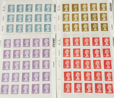 100 1st Class Unfranked Stamps off PaperWITH ORIGINAL GUM Easy Peel