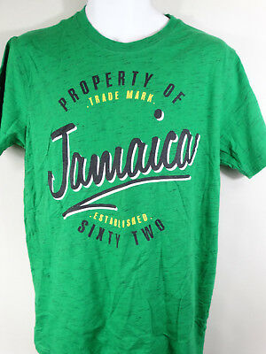 Life Styles T-Shirt Green ''jamaica --New-- Sizes Large Low Price Look Men's