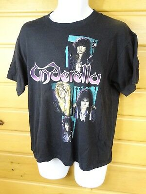 Vintage Authentic Cinderella Shakes the USA Concert T Shirt Size LARGE