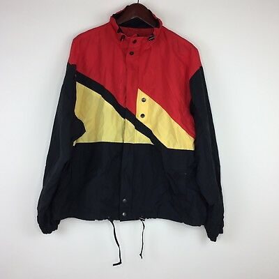 Chalet Ski Wear Men s Jacket Size Large L Red Yellow With Buttons And Zipper e0ddb0fc9