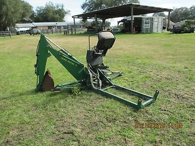 JD #7 BACKHOE Attachment  was on JD 855, Fits 755 and 955 plus others