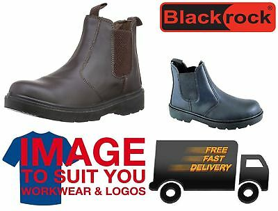 Blackrock Leather Dealer Chelsea Slip On Steel Toe Cap Safety Work Boots Shoes