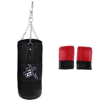Punching Unfilled Boxing Bag KickBoxing MMA With Punching Gloves Breathable