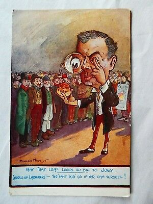 Pre 1914 Political Cartoon  Postcard PROTECTION by Dudley Ward