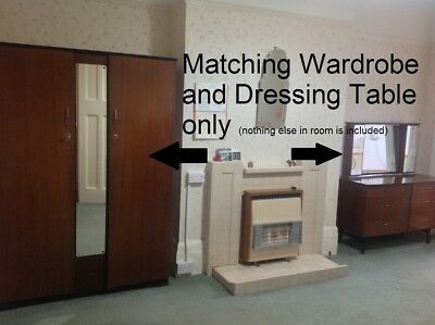 1950's Wardrobe and Dressing Table by Advance of Sheffield - Mid Century Modern