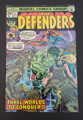 Defenders #27 (1975, Marvel) 1st Cameo Appearance of Starhawk