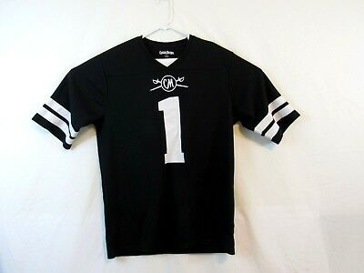 Captain Morgan Rum Men's Large Black #1 Football Style Jersey