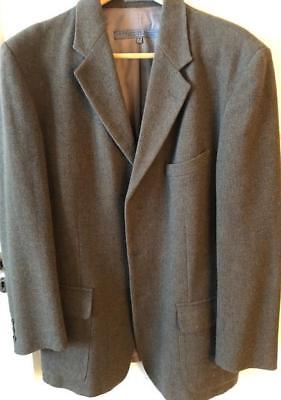 Brown Wool Mens Coat Three Button Size M Le Collezioni Structure Made In Italy