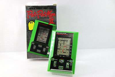 Epoch LCD Game Watch Pak Pak Man II (Pacman) Boxed Made in Japan Free Postage!