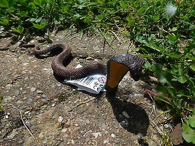 New COBRA snake detailed Wild Safari hand painted model  toy reptile 18 cm