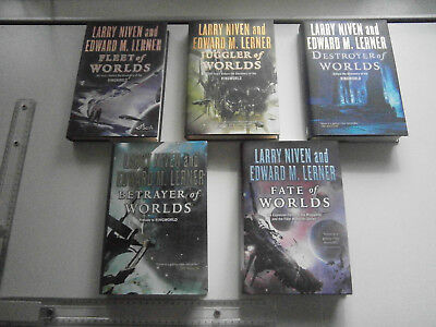 Complete set Fleet of World books by Larry Niven and Edward M. Lerner