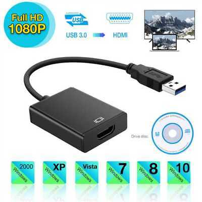 HD 1080P HDMI to USB3.0 Video Cable Adapter Converter For PC Laptop HDTV LCD TV