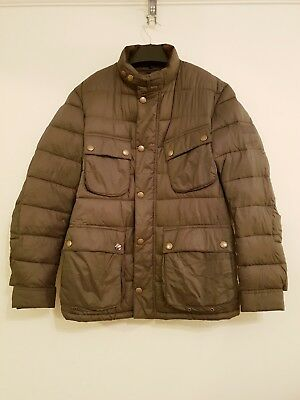 Barbour Steve mc Queen International Mens Quilted Jacket Khaki Size S / M