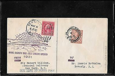 USA 1931-Wilkins Trans Artic Expedition dualfranked cover (Ref E161)