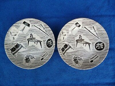 2 Vintage Ridgway Pottery ' Homemaker ' Bowls , Excellent Condition.