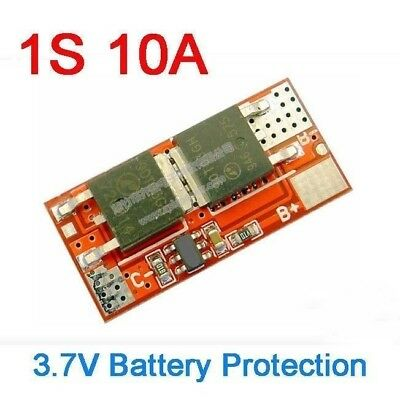1S 10A 3.7V BMS Battery Charging Protection PCB Board Li-ion lithium 18650 Cells