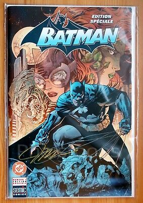 Batman Hush part 1 hand signed byJim Lee limited edition in french,new