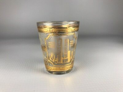 Vintage New York City World Trade Center Twin Towers Culver Shot Glass