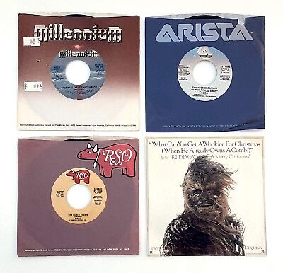 STAR WARS 45's records LOT of 4 Wookie Ewok Lapti Funk Cantina Empire Force VTG