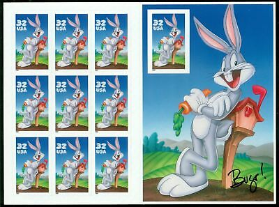 Bugs Bunny Looney Tunes 3137 MNH MINT Sheet Pane Booklet 10 32-cent Stamps 1997