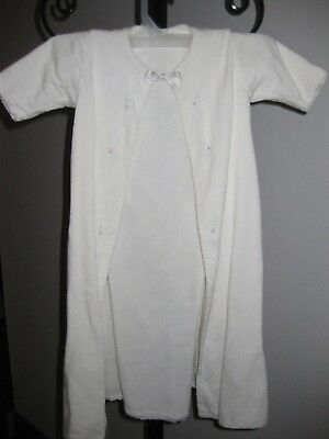 Original Victorian  white Christening Gown Vintage Collectable baby Cotton