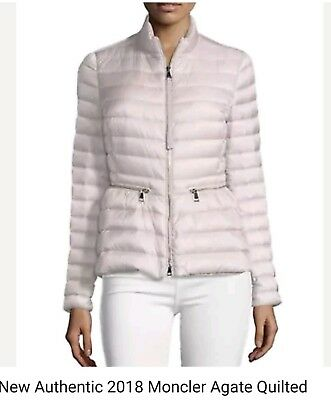 3a43ec12e NEW AUTHENTIC 2018 Moncler Agate Quilted Puffer Jacket NWT pinkSz.1
