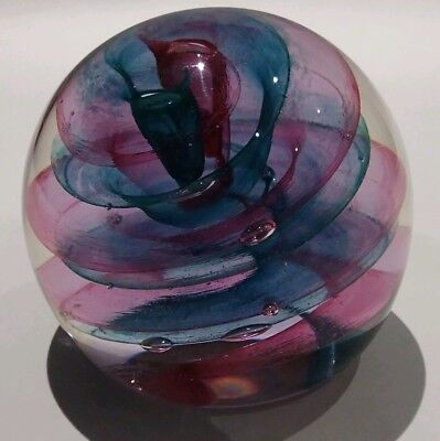 Caithness glass Vintage Paperweight Purple and Blue