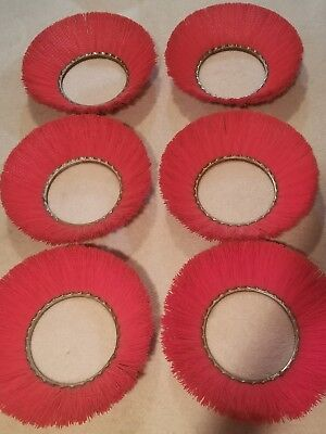 "18"" Side Sweeper Scrubber Broom Brush Lot of 6 Brushes"