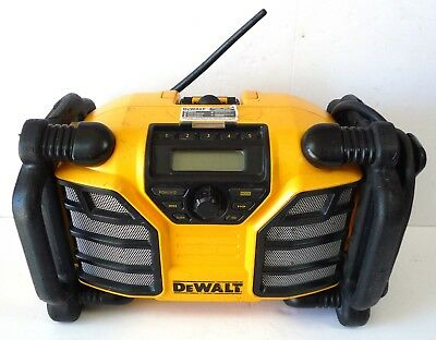 DeWalt DCR015 Work Site Radio Battery Charger Power Station Good Used Condition
