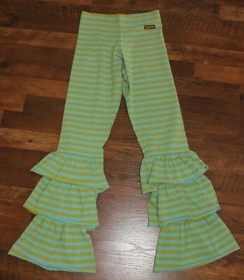 Matilda Jane Size 14 Paint By Numbers Lemongrass Bennys Striped Pants Green Blue