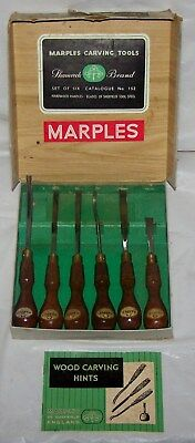 Vintage Marples Woodworking Chisels. No. 152. With Box and booklet..NICE!!!