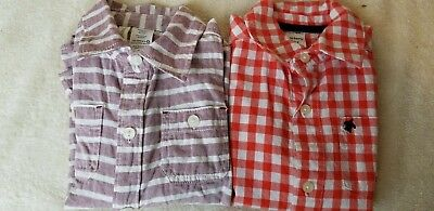 Lot Of 2 Toddler Boys  Long Sleeve Button Down Shirts  Size 3T