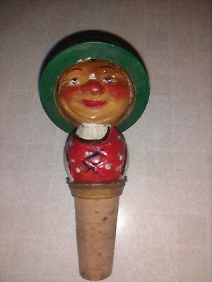 Vintage Anri Two-Faced Bottle Stopper rare