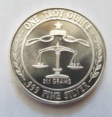 1984 Vintage Parliament Shield 1 Troy Oz .999 Fine Silver Round Collectible Coin