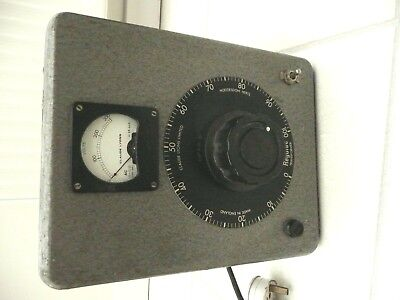 Variac. Variable transformer by Claude Lyons. zero to 275V 6A, metered.