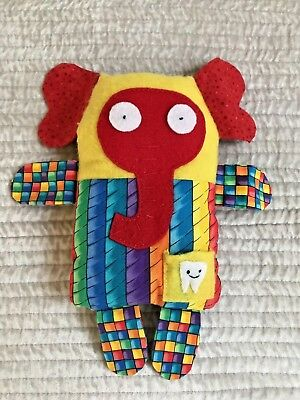 .❤️ OOAK Handmade/Handcrafted ❤️ Colourful TOOTH FAIRY TOY / CUSHION with Pocket