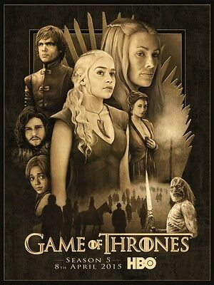 Carteles Juego De Tronos Game Of Thrones Season 5 Tv Lannister Stark