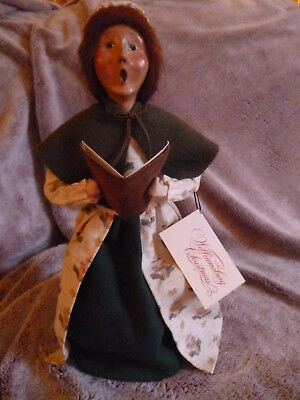 Byers' Choice Williamsburg Christmas Woman Caroler With Song Book W/tag 1998
