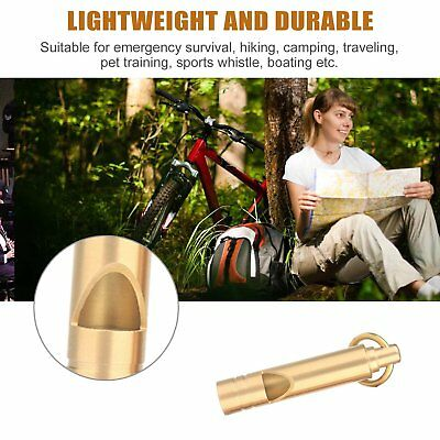 Outdoor Brass Whistle Keychain EDC Emergency Survival Tool Camping Hiking PJ