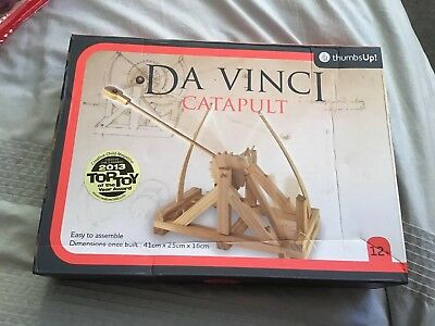 Da Vinci Catapult Model Kit Firing Action Wooden Construction Toy  Brand New