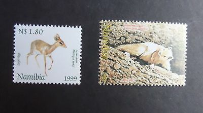 NAMIBIA, SC 920-921, 1999 Small Animals, 2 stamp issue. MNH. CV $6.55