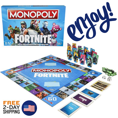 New Monopoly Fortnite Edition Game Family Board Games Fun Playing Party Friends