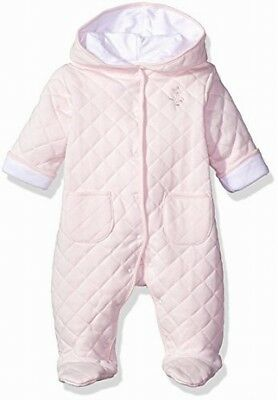 Little Me NEW Baby Girls Pink Size 6-9 Months Hooded Quilted One-Piece $30 621