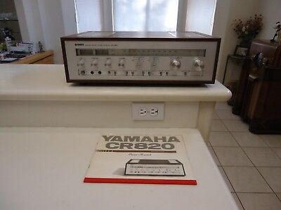 Vintage Yamaha Stereo Receiver - CR-820 w/Owners Manual - Looks & Sounds Great