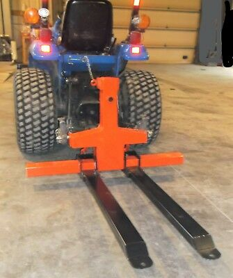 Three-Point Hitch Deluxe Multi-Use Forklift/Pallet Fork/Bale Spear Attachment  f