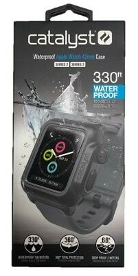 Catalyst Waterproof Case for Apple Watch 42mm Series 2, 3 -Gray Band NEW HW30