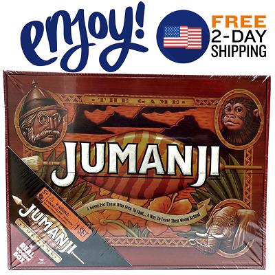 New Jumanji Game Wooden Box Family Board Games Fun Playing Party Friends