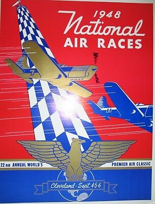 1935 &1948 National Air Race Posters Cleveland Ohio New Reproductions -2 Posters