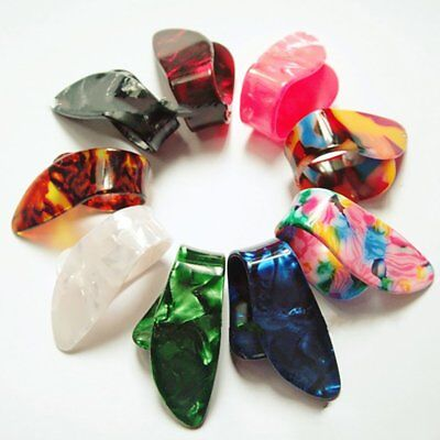 Guitar Pick Fingertip Protectors Celluloid Guitar Finger Thumb Paddles V97Z